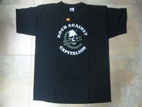 Rock against Capitalism čierne pánske tričko 100%bavlna