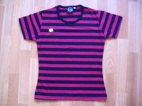 Dievčenské tričko pruhované červenočierne 100%bavlna