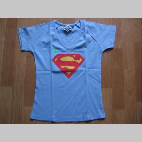 Superman - Supergirl bledomodré dámske tričko 100%bavlna  6e9b591e79e