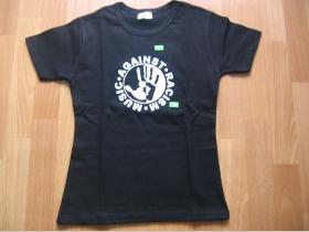 Music Against Racism  čierne dámske tričko 100%bavlna