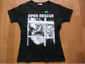 Open Rescue  čierne dámske tričko 100%bavlna