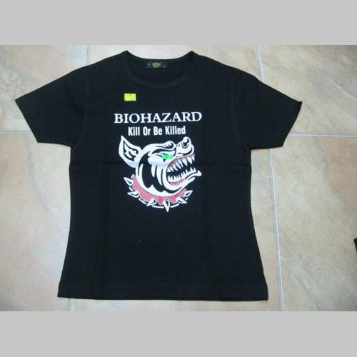 Biohazard dámske čierne tričko 100%bavlna  d259832e9d6