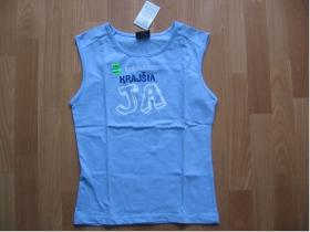Krásna - bledomodré Dámske tričko 100%bavlna