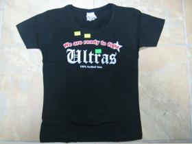Ultras čierne dámske tričko 100%bavlna Zľavnené
