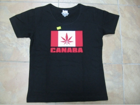 Canaba čierne dámske tričko 100%bavlna