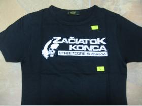 Začiatok Konca  dámske čierne tričko 100%bavlna