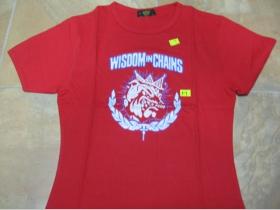 Wisdom in Chains  červené dámske tričko Fruit of The Loom 100%bavlna