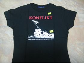 Konflikt  dámske čierne tričko 100%bavlna S,M,L,XL (požadovanú veľkosť napíšte v objednávke do rubriky KOMENTÁR)
