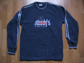 Steady's pánska mikina tmavošedá s vyšívaným logom, 100% polyester, posledný kus veľkosť M