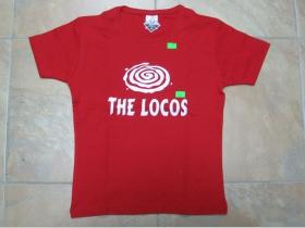 The Locos  dámske červené tričko 100%bavlna