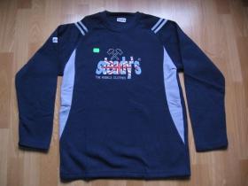 Steady's pánska mikina  tmavomodrá s vyšívaným logom, 100% polyester posledný kkus veľkosť M
