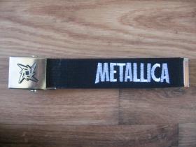 Metallica opasok látkový s kovovou posuvnou prackou