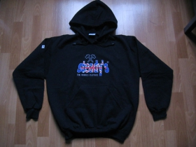 Steadys, pánska čierna mikina s kapucou a vyšívaným logom 100%bavlna, posledné kusy S/M a XXL (požadovanú veľkosť napíšte na konci objednávky do rubriky KOMENTAR)