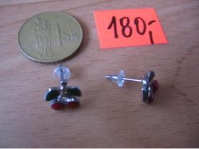 Naušnice čerešne malé (cena za 1pár)