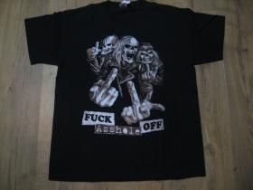 Fuck off Asshole - smrtky čierne pánske tričko materiál 100% bavlna