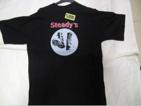 Steadys, čierne tričko 100%bavlna