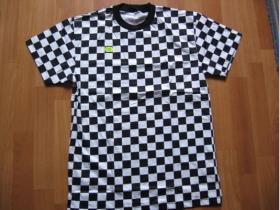 Ska, čiernobiele tričko 100%bavlna