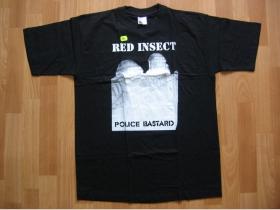 Red Insect  čierne pánske tričko 100%bavlna