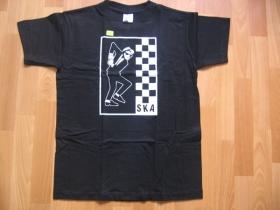 SKA  čierne pánske tričko 100%bavlna
