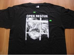 Open Rescue  čierne pánske  tričko 100%bavlna