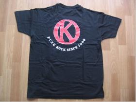 Konflikt - chrbtová strana  čierne pánske tričko 100%bavlna