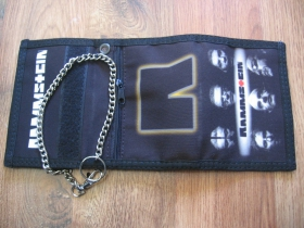 Rammstein  hrubá pevná textilná peňaženka s retiazkou a karabínkou