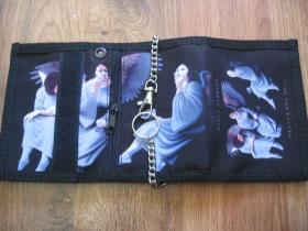 Black Sabbath  hrubá pevná textilná peňaženka s retiazkou a karabínkou