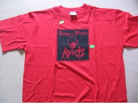 Adicts - červené pánske tričko 100%bavlna
