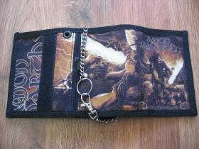 Amon Amarth  hrubá pevná textilná peňaženka s retiazkou a karabínkou