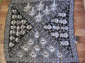 šatka veľká so smrtkami 100%bavlna 100x100cm