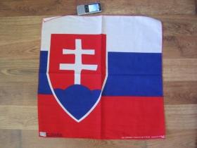 Slovenská vlajka Šatka 100%bavlna, cca.52x52cm