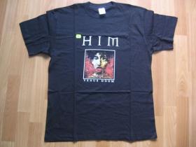 HIM, pánske tričko čierne 100%bavlna