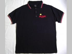 Pit Bull   BS 4703 čierna pánska polokošeľa s vyšívaným logom 100%bavlna