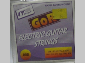 Struny Gor strings 1N6-93 na elektrickú gitaru hrúbka 008   Nickel Rounwound