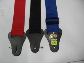 Pás na gitaru GHS, čierny, modrý, červený  materiál nylón, nastaviteľná veľkosť