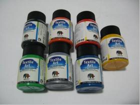 Farby na textil - čierna,oranžová,červená,zelená,strieborná,modrá,biela  59ml  (konkrétnu farbu napíšte v objednávke do rubriky KOMENTÁR)