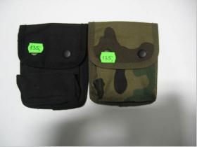 Kapsička na opasok - plátenná 12x15cm - čierna, maskáčová  (konkrétnu farbu napíšte v objednávke do rubriky KOMENTÁR)