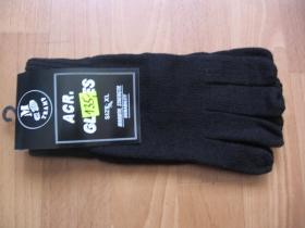 Rukavice čierne hrubé pletené  100%akryl  univerzálna veľkosť