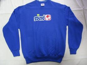 Sound, pánska mikina FRUIT OF THE LOOM s tlačeným logom 80%bavlna farba ROYAL BLUE 20%polyester posledný kus veľkosť M