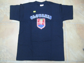 Slovakia - tmavomodré pánske tričko pánske tričko 100%bavlna Fruit of The Loom