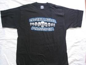Troublemaker TKT čierne pánske tričko TOTENKOPF