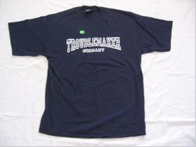Troublemaker OTS tmavomodré pánske tričko OLD SCHOOL