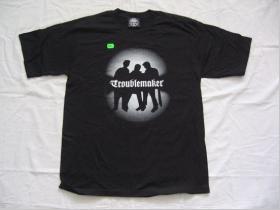 Troublemaker LTS čierne pánske tričko SCHATTEN