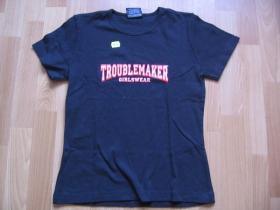 Troublemaker GT-3 čierne dámske tričko 100%bavlna