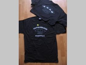 Troublemaker SRT čierne pánske tričko BOXER s obojstrannou potlačou