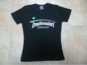 Troublemaker čierne dámske tričko 100%bavlna