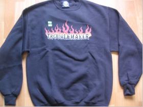 Troublemaker FSS čierna pánska mikina FLAMES (predok)