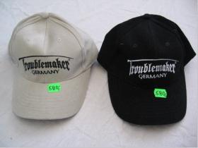Troublemaker BC-02   BC-08 šiltovka - čierna s vyšívaným logom 100%bavlna cena za 1ks