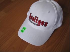 Hooligan šiltovka CAP 008 biela s vyšívaným logom 100%bavlna