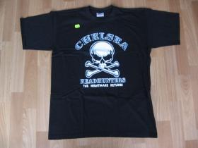 Chelsea, čierne pánske tričko 100%bavlna, posledné kusy - veľkosť S a M
